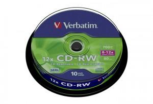 CD-RW VERBATIM 8x 10X CAKE 10ΤΜΧ (ΕΠΑΝΑΓΡΑΨΙΜΑ CD)