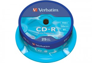 CD-R VERBATIM 52x CAKE -25τμχ - 700mb 80min.