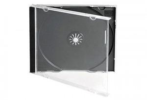 ΘΗΚΗ CD ΜΑΥΡΗ ΚΕΝΗ ΠΛΑΣΤΙΚΗ ΛΕΠΤΗ SLIM