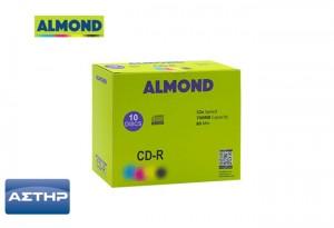 CD-R ALMOND 700MB 52X 80MIN. ΣΕ SLIM ΔΙΑΦΑΝΗ ΘΗΚΗ